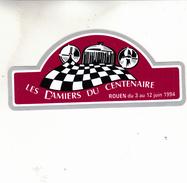 DAMIERS DU CENTENAIRE ROUEN 1994  AUTOCOLANT - Stickers