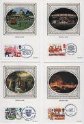 Great Britain First Day Benham Silk Postcards To Celebrate British Fairs 1983. - FDC