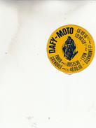 DAFY MOTO LYON CLERMONT PARIS  GRENOBLE  AUTOCOLANT - Stickers
