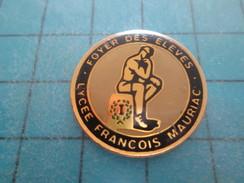 Pin813f Pin's Pins / ADMINISTRATIONS : LYCEE FRANCOIS MAURIAC FOYER DES ELEVES   Rare Et De Belle Qualité !! - Administrations