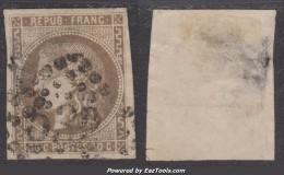 30c Bordeaux Brun Clair TB D'aspect  (Dallay N° 47a , Cote 300€) - 1870 Bordeaux Printing