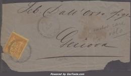*RARETE* 25c Sage C.a.D  VOLO/ TURQUIE TB Sur GRAND FRAGMENT (Y&T N° 92, Cote  +++€) - 1876-1898 Sage (Type II)