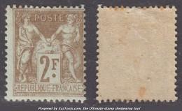 2Fr Sage Neuf * TB (Y&T N° 105, Cote  200€€) - 1898-1900 Sage (Type III)