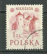 POLAND Oblitéré 674 Variété NIEDZIGA Au Lieu De NIEDZICA Tourisme Dans Les Monts Pieniny Variété - Oblitérés