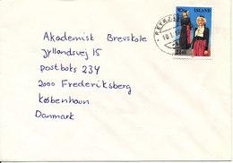Iceland Cover Reykjavik 10-1-1992 Single Franked Sent To Denmark - 1944-... Republique