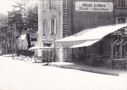 """Alzon - Altitude 610 M - Bar - Hotel - Restaurant """"Maurand"""", Pub """"Midi Libre"""" & Bière """"Fritz Lauer"""" - Pas Circulé - France"""