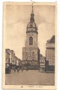 """7. AMIENS . LE BEFFROI + 1 AUTO-BUS MARQUE """" TRANSPORT DE CHOIX """" . AFFR AU VERSO LE I VII 1935 . 2 SCANES - Amiens"""