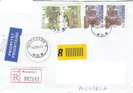 POLEN - 4 Fach Frankierung Auf Brief Gel.v.Warszawa > Wien - 1944-.... Republik