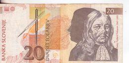 67-Slovenia-Cartamoneta-Banconota Circolata 20 Tolariev-Stato Di Conservazione: Più Che Mediocre - Slovenia