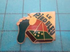 Pin813f Pin's Pins / SPORTS ; BILLARD LE PIED BLEU  Rare Et De Belle Qualité !! - Billiards