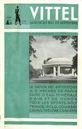 PIE-17-P. G-F 167 : VITTEL VOSGES SAISON 20 MAI 25 SEPTEMBRE - Dépliants Touristiques