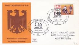 Germany Cover 1974 Germany World Cup Football - Hamburg (DD2-13) - Coppa Del Mondo