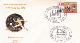 Germany Cover 1974 Germany World Cup Football - Gelsenkirchen (DD2-13) - Coppa Del Mondo