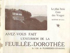 PIE-17-P. G-F 168 : LA FEUILLEE-DOROTHE  VOSGES - Dépliants Touristiques