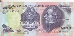 70-Uruguai-Cartamoneta-Banconota F.D.S. 50 Nuevos Pesos-Stato Di Conservazione: Ottimo - Uruguay
