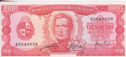 71-Uruguai-Cartamoneta-Banconota F.D.S. 100 Pesos-Stato Di Conservazione: Ottimo - Uruguay