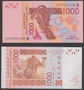 Billet Afrique Occidentale Cote D'Ivoire 1000 Francs Xof Cfa Neuf Jamais Circulés, - Côte D'Ivoire