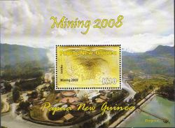 Papua New Guinea MNH Gold Mining Set, Sheetlet And SS - Minerals