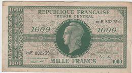 1000 FRS MARIANNE  Tresor Central.1945. ND.VF 13.SERIE E.TTB - Tesoro