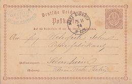 DR Ganzsache K1 Metz Bahnhof 5.11.74 Seltener Stempel - Briefe U. Dokumente