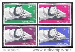 Malawi 1965 Bildung Ausbildung Schulen Universitäten Buch Bücher Mikroskop Lernen Wissenschaft, Mi. 33-6 ** - Malawi (1964-...)