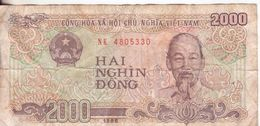 75-Vietnam-Cartamoneta-Banconota Circolata-2000 Dong-Stato Di Conservazione:scadente - Vietnam