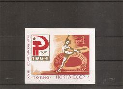 Russie - JO De Tokyo-1964( BF 34 XXX -MNH) - Blocks & Sheetlets & Panes