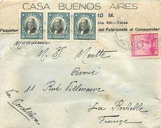 PIE-17-P. G-F 183 : LETTRE PARTIE DU CHILI. BUENOS AIRES 4 TIMBRES 1937 - Chile