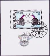 Mi.Nr.253 (Block7) SLOWAKEI Olympische Sommerspiele, Atlanta USED/O/GESTEMPELT - Used Stamps