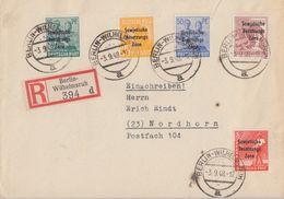 SBZ R-Brief Mif Minr.184,188,191,194,195 Berlin-Wilhelmsruh 3.9.48 - Sowjetische Zone (SBZ)