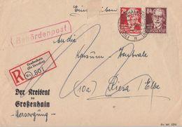 SBZ Behördenpost R-Brief Mif Minr.220,227 Großenhain 8.3.50 - Sowjetische Zone (SBZ)