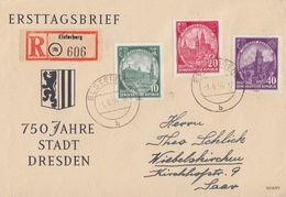 DDR Brief Mif Minr.524-526 Elsterberg 1.6.56 - DDR