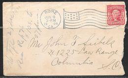 1904 Rome GA (Jun 8) Flag Cancel On 2 Cents Washington Stamp - Brieven En Documenten