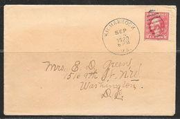 1920 Kilmarnock VA (Sep 24) 2 Cents Washington Stamp - Brieven En Documenten