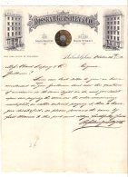 004 2, Etats-Unis, Lettre Avec Entête Philadelphia, Rosskam, Gerstley Co, Alcool, 1882 - Etats-Unis