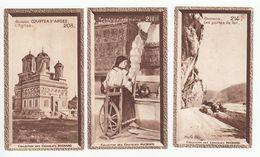 3 Chromos  - Chocolat SUCHARD - ROUMANIE  - N° 208,211,214 -  COURTEA - PAYSANNE ROUMAINE + LES ¨PORTES DE FER - Suchard