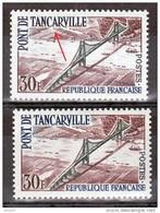 FRANCE VARIETE  N° YVERT / MAURY 1215  PONT DE TANCARVILLE  NEUFS LUXE - Abarten: 1950-59 Ungebraucht