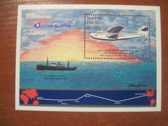 Palau  S/S 1985 Aviation Ships First Trans Pacific Mail Flight China Clipper  S/slock MNH - Palau
