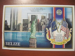 Belize 1986 Liberty Centennial  S/s Block MNH - Belize (1973-...)