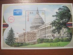 Belize 1986 The US Capitol  S/s Block MNH - Belize (1973-...)