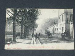 MONTPELLIER   1910  /    BOULEVARD DE L ESPLANADE ET LYCEE  / CIRC OUI  / EDIT - Montpellier