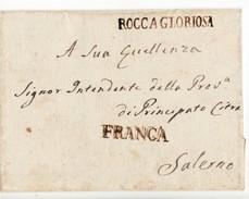 797 ROCCAGLORIOSA X SALERNO Senza Testo - ...-1850 Préphilatélie
