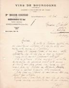 GEVREY-CHAMBERTIN Vins De Bourgogne Facture 1924 Maison NAIGEON-CHAUVEAU Fils - Alimentaire
