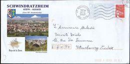 France Hochfelden 2002 / Schwindratzheim / Coat Of Arms / Church, Bridge / Postal Stationery - PAP: Sonstige (1995-...)