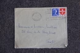 Timbre Sur Lettre : Y Et  T : N°1011 B Et 1186 - 1921-1960: Periodo Moderno