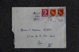 Timbre Sur Lettre : Y Et  T : N°1011 Et 2 X 1004 - 1921-1960: Periodo Moderno