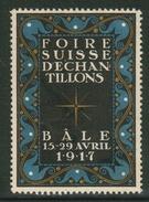 Suisse // Schweiz // Switzerland // Erinnophilie // Vignette ,Foire Suisse Bâle 1917 - Erinnophilie