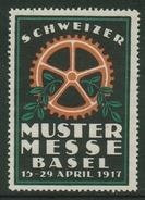 Suisse // Schweiz // Switzerland // Erinnophilie // Vignette ,Muster Messe Basel 1917 - Vignetten (Erinnophilie)