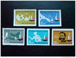 BULGARIA 1964 HISTORY 100 Years Of RED CROSS ORGANIZATION - Fine Set MNH - Nuovi