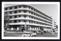 PS2) Hotel Metropole - Karachi - Pan American Airlines Office - 1955 Chevrolet - RPPC - Pakistan